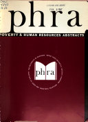 Poverty & Human Resources Abstracts