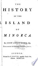The History of the Island of Minorca
