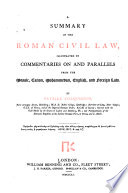 A Summary of the Roman Civil Law