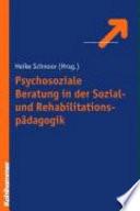 Psychosoziale Beratung In Der Sozial Und Rehabilitationsp Dagogik