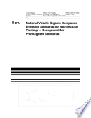 National Volatile Organic Compound Emission Standards for Architectural Coatings