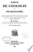 l  ments de g  ologie et d hydrographie