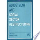 Adjustment and Social Sector Restructuring