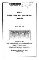 AALL Directory and Handbook
