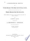 A Biographical Sketch of Thomas Worcester, D. D.