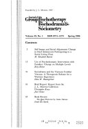 Journal of Group Psychotherapy  Psychodrama and Sociometry