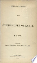 Annual Report of the Commissioner of Labor Book PDF