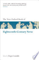 The New Oxford Book of Eighteenth Century Verse