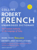 Collins Robert French Unabridged Dictionary  9th Edition
