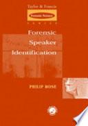 Forensic Speaker Identification