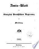 Amts-Blatt der Königlichen Regierung zu Merseburg