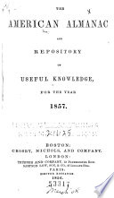 American Almanac and Repository of Useful Knowledge Book PDF