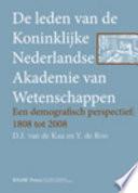 De Leden Van de Koninklijke Nederlandse Akademie Van Wetenschappen