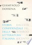 Storia confidenziale della letteratura