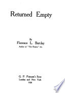 Returned Empty Book PDF