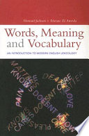 Words  Meaning and Vocabulary