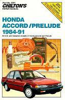 Honda Accord Prelude 1984 91