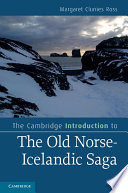 The Cambridge Introduction to the Old Norse Icelandic Saga