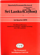 Ebook Quarterly Economic Review of Sri Lanka (Ceylon) Epub N.A Apps Read Mobile