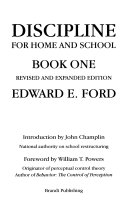 Discipline for Home and School