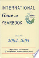 International Geneva Yearbook 2004 2005