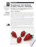 Strawberries  Safe Methods to Store  Preserve  and Enjoy
