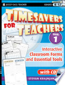 Timesavers for Teachers  Book 1