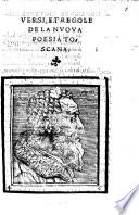 Versi e Regole de la nuova poesia toscana