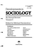 Developments in Sociology : an Annual Review