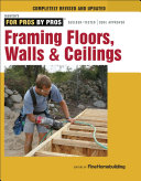 Framing  floors  Walls  Ceilings