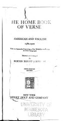 The Home Book of Verse  American and English  1580 1920