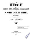 A Dictionary Of The English And German And The German And The English Language