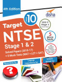 Target NTSE Class 10 Stage 1   2 Solved Papers  2010   17    5 Mock Tests  MAT   LCT   SAT  4th Edition