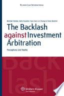 The Backlash Against Investment Arbitration Pdf/ePub eBook