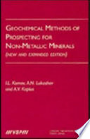Geochemical Methods of Prospecting for Non Metallic Minerals