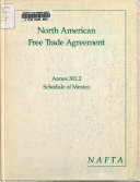 North American Free Trade Agreement Between the Government of the United States of America  the Government of Canada  and the Government of the United Mexican States  Annex 302 2  Tariff schedule of Mexico