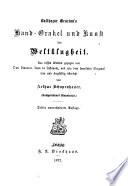 Balthazar Gracian's Hand-orakel und Kunst der weltklugheit ...