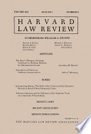 Harvard Law Review  Volume 124  Number 8   June 2011