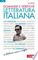 Domande e verifiche  LETTERATURA ITALIANA