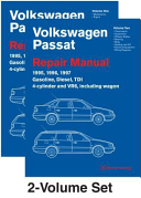 Volkswagen Passat B4 Repair Manual 1995 1996 1997 Including Gasoline Turbo Diesel Tdi 4 Cylinder Vr6 And Wagon