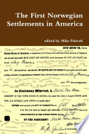 The First Norwegian Settlements in America