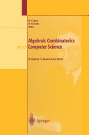 Algebraic Combinatorics and Computer Science