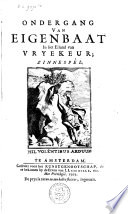 Ondergang van Eigenbaat in het eiland van Vryekeur