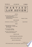 Harvard Law Review: Volume 131, Number 3 - January 2018