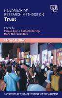 Handbook of Research Methods on Trust