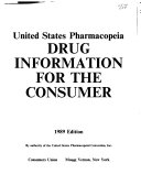 United States Pharmacopeia Drug Information for the Consumer