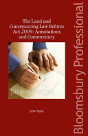 Land And Conveyancing Law Reform Act 2009 : revolution in irish land law and...