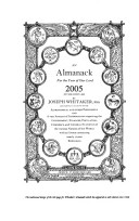 An Almanack for the Year of Our Lord