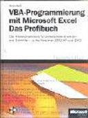 VBA-Programmierung mit Microsoft Excel - das Profibuch