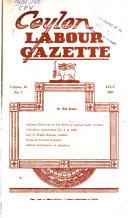 Ceylon Labour Gazette